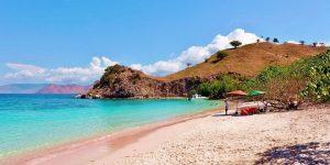 Pantai Pink, Bahamas.