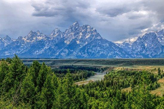 Taman Nasional Grand Teton Yang Berada Di Pegunungan Teton